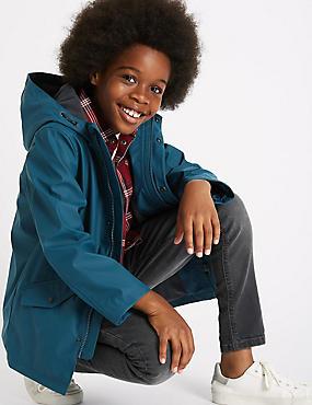 Fisherman Jacket with Stormwear™ (3-14 Years), BLACK, catlanding