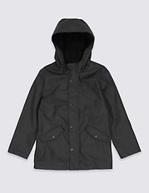 Faux Leather Fisherman Jacket (3-14 Years)