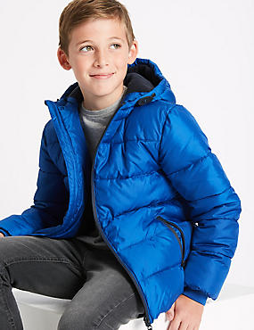Zipped Through Padded Coat with Stormwear™ (3-14 Years)
