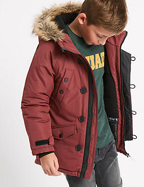 Faux Fur Parka Jacket with Stormwear™ (3-14 Years)