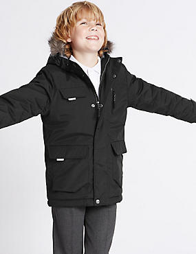 Faux Fur Parka Coat (3-14 Years)