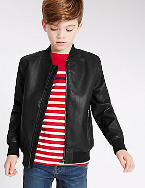 Faux Leather Jacket (3-14 Years)