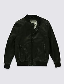 Faux Leather Jacket with Stormwear™ (3-14 Years)