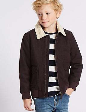 Wool Blend Coat (3-14 Years)