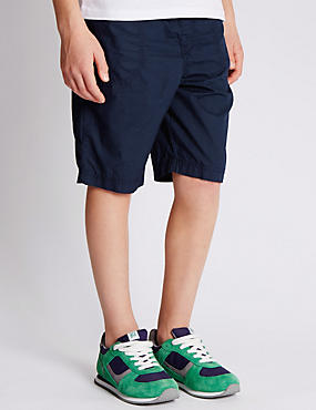 2 Pack Pure Cotton Flight Cloth Shorts (5-14 Years)
