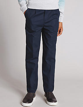 Pure Cotton Twill Chinos (5-14 Years)