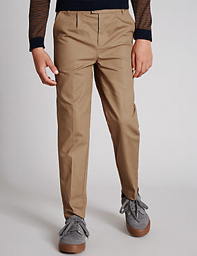 Twill Chino Trousers (5-14 Years)