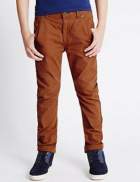 Fashion Canvas Trousers (5-14 Year)