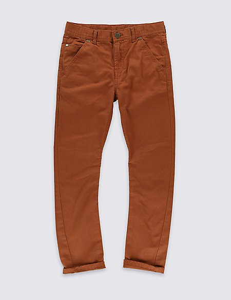 Pure cotton Canvas Trousers (5-14 Year)