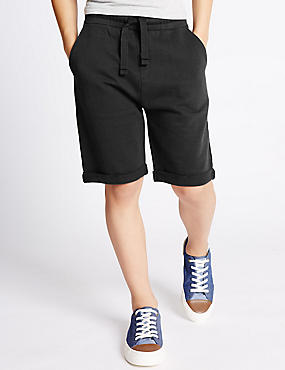 Pure Cotton Adjustable Waist Shorts (5-14 Years)