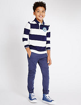 Cotton Rich Pull On Trousers (3-14 Years)