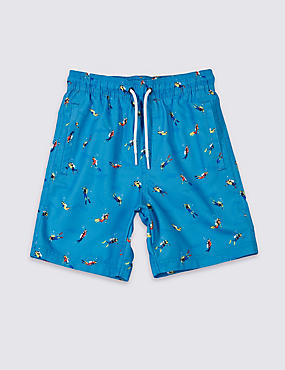 Printed Swim Shorts (3-14 Years)