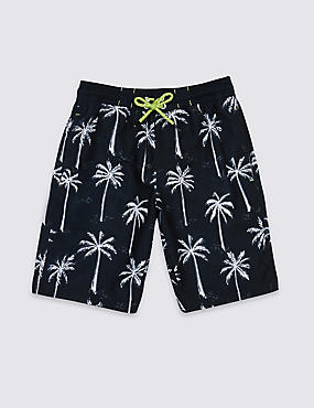 Palm Tree Print Swim Shorts (3-14 Years)