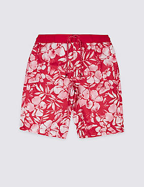 Floral Print Swim Shorts (3-14 Years)