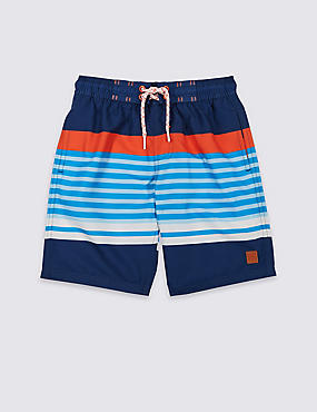 Swim Shorts with Sun Safe UPF50+ (3-16 Years), BLUE MIX, catlanding