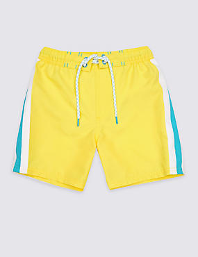 Swim Shorts with Sun Safe UPF50+ (3-16 Years), YELLOW, catlanding