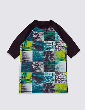 Photo Surf Print Rash Vest (3-14 Years)