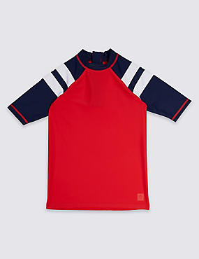 Stripe Sleeve Rash Vest (3-16 Years)