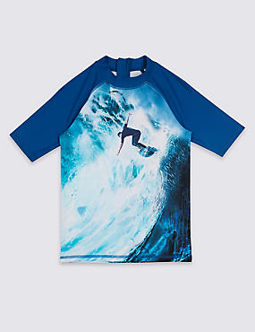 Surfer Photographic Print Rash Vest (3-16 Years)