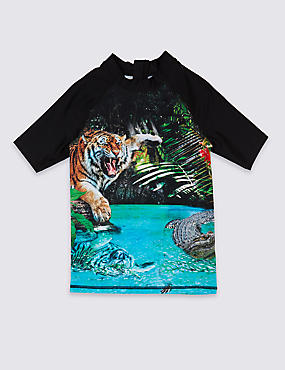 Tiger Photographic Rash Vest (3-16 Years)
