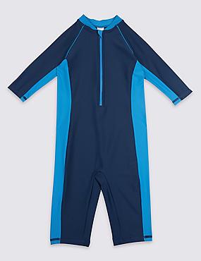 Swimsuit with Sun Safe UPF50+ (3-16 Years), MULTI, catlanding