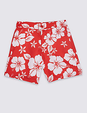 Hibiscus Print Swim Shorts (3-16 Years)