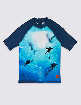 Photographic Print Rash Vest (3-16 Years)