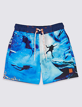 Photographic Print Swim Shorts (3-16 Years)