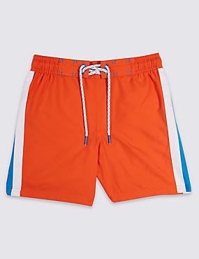 Swim Shorts with Sun Safe UPF50+ (3-16 Years), ORANGE, catlanding