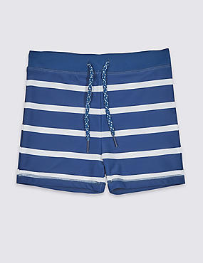 Pure Cotton Striped Swim Trunks (3-16 Years)