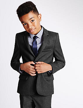 2 Button Brushed Blazer (5-14 Years)