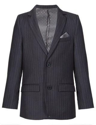 2 Button Pinstriped Blazer (5-14 Years) Clothing