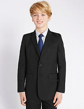 Notch Lapel 2 Button Blazer (5-14 Years)