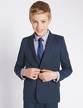 Classic Notch Lapel 2 Button Blazer (5-14 Years)