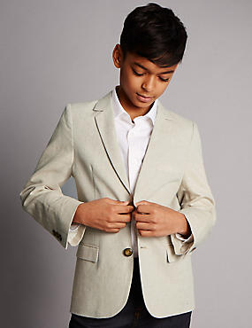 Notch Lapel 2 Button Suit Including Waistcoat (5-14 Years)
