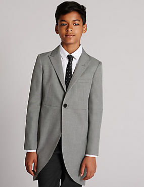 Peak Lapel 1 Button Morning Blazer (3-14 Years)