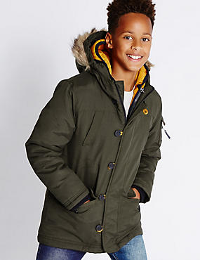 Long Sleeve Hooded Parka (5-14 Years)
