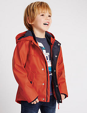 Boys Red Coats & Jackets | Maroon Kids Jacket Online | M&S