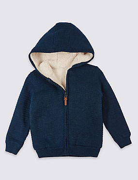 Pure Cotton Hooded Cardigan (3 Months - 5 Years)