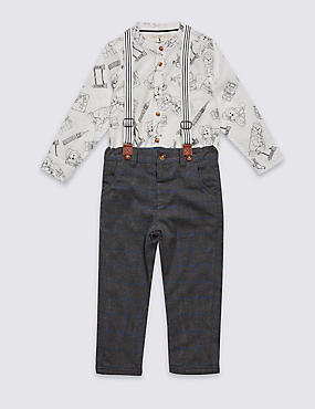 2 Piece Paddington™ Shirt & Trousers Outfit (3 Months - 6 Years)