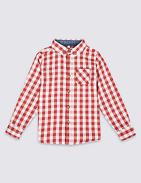 Pure Cotton Gingham Shirt (3 Months - 6 Years)