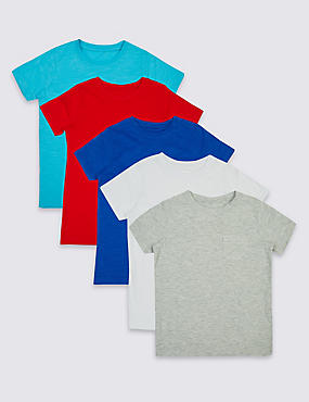 5 Pack Short Sleeve T-Shirts (3 Months - 5 Years)