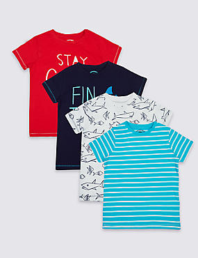 4 Pack Pure Cotton T-Shirt (3 Months - 5 Years)