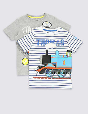 2 Pack Cotton Rich Thomas & Friends™ T-Shirts (1-6 Years)
