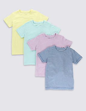 4 Pack Pure Cotton T-Shirts (1-7 Years)