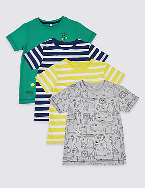 4 Pack Printed Tops (3 Months - 7 Years)