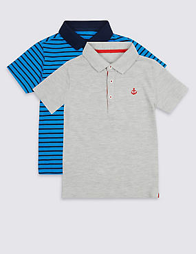 2 Pack Polo Shirts (3 Months - 7 Years), MULTI, catlanding