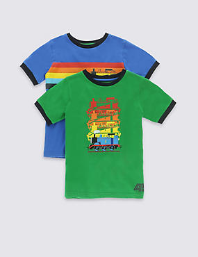 2 Pack Pure Cotton Thomas & Friends™ T-Shirts (1-6 Years)