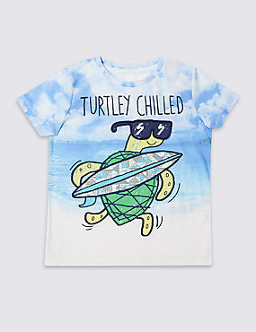 Turtle Print T-Shirt (3 Months - 5 Years)