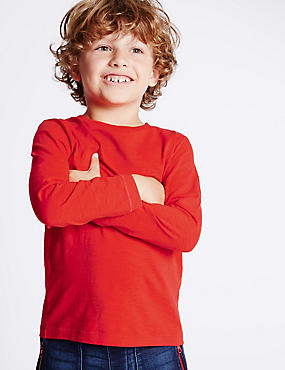 Pure Cotton Long Sleeve T-Shirt (1-7 Years)